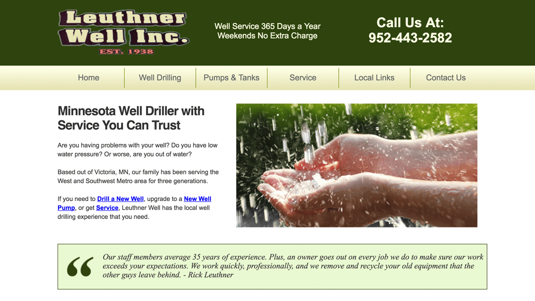 Leuthner Wells website design project